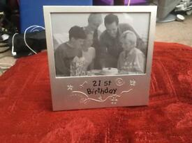 Picture frame for 21st birh Picture frame for 21st birhday and I love you frame