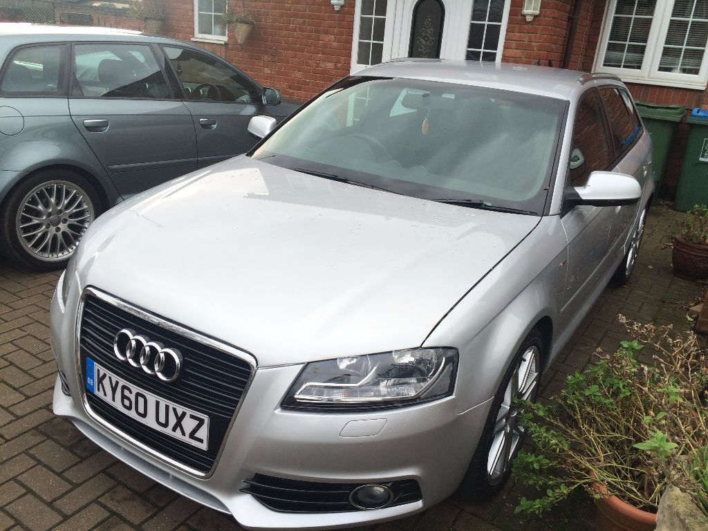 2010 audi a3 s line tfsi 1390cc petrol silver 5dr 7g s tronic f1 paddles 40k miles 7395. Black Bedroom Furniture Sets. Home Design Ideas