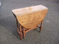 Lovely Solid Oak 1920's Dropleaf Spacesaver Table