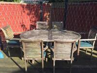 Java Teak garden table and chairs