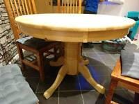 Solid circular table