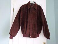 Men's suede leather blouson jacket. Size M-L. Never worn.