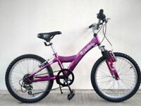 "FREE Lights with (993) 20"" GIANT GIRLS MOUNTAIN HARDTAIL BIKE BICYCLE Age: 6-8 Height: 117-132cm"