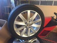 """VW 17"""" ALLOY WHEELS x4 £250"""