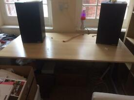 Large Solid Beech Desk (IKEA FREDRIK) - Need to get rid!