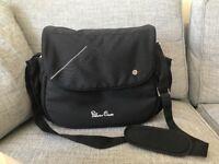 Silver Cross over shoulder changing bag in black
