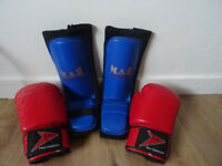Shin Guards & Boxing Gloves