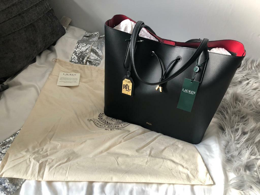c7e66aa194ad australia polo ralph lauren black vegan leather tote bag b9779 0ff82  hot ralph  lauren handbag 8b31e f508b