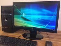 "***FULL SET Compaq Dual Core 8GB Ram / 500GB /Amd Radeon HD7310 Graphics + 22"" Monitor Desktop PC"