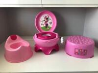 Minnie Mouse Potty, Peppa Pig Step & Pink Potty