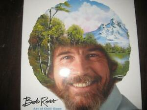 Bob Ross. Art of Chill Game. Adult Family Board Game. Fun. Multi Player Fun. 4 Pallete. Art Supplies Card. Chill Cube