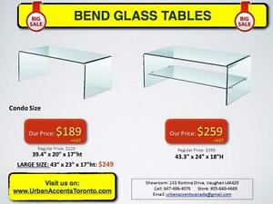 BEND GLASS FURNITURE ON SALE IN TORONTO CHEAPEST PRICES BRAND NEW SHOWROOM OPEN TO PUBLIC