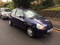 X Reg Ford Ka with Low Mileage, Clean Interior and Exterior, Mechanically and Drives very good