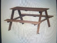 Children's picnic table, grey-brown stained (IKEA RESÖ)