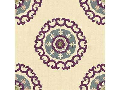 Kravet Purple Suzani Ethnic Medallion Upholstery Fabric (31408-1610) 1.83 yds
