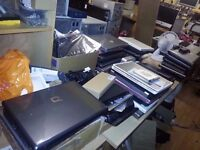 More than Hundred Untested Laptop, Desktop, Printer, Projector, TV, computer parts for clearance.