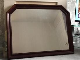 Large Mahogany Effect Mirror