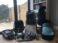 Bugaboo Cameleon 3 Pram/pushchair in Petrol Blue and Black. Excellent condition