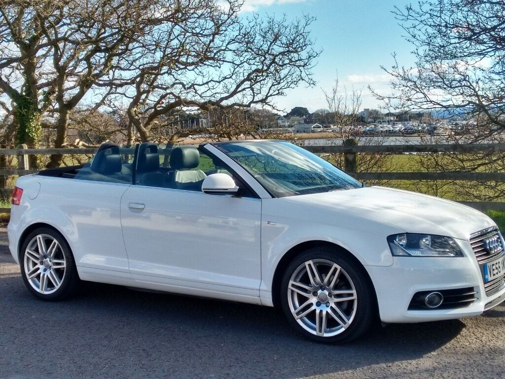 Audi A3 Cabriolet White And Black S Line Petrol Manual In Poole Dorset Gumtree
