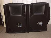 PAIR OF RCF 715A SPEAKERS 1400W RMS POWER