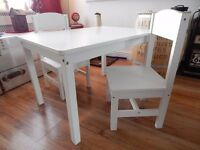 kids dining/ play table and 2 chairs , £15