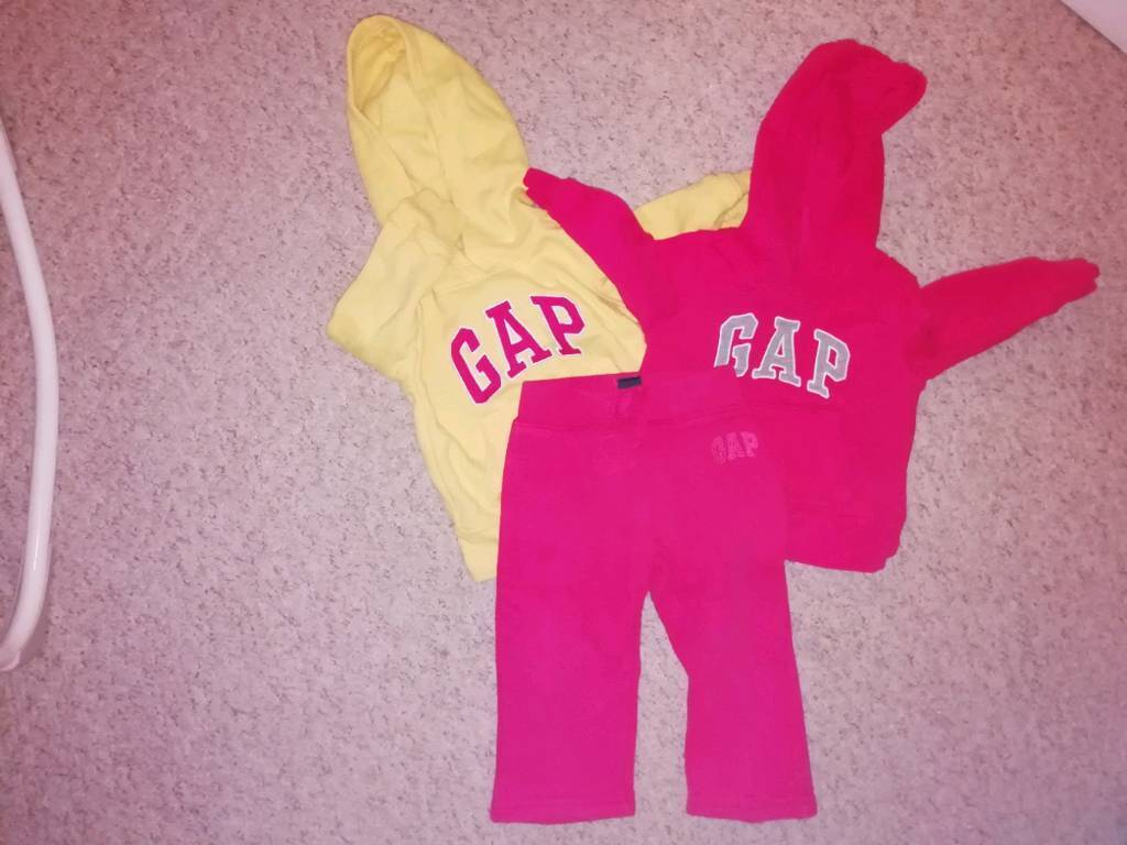 7fa3a94b7681 X2 Gap Baby Girls outfits Size 6-12 + 18 Month Trousers