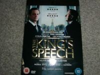 THE KINGS SPEECH DVD. SEALED & UNOPENED IN ORIGINAL PACKAGING