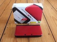 Nintendo 3DS XL - RED Comes with (Super Mario 3d World pre installed)