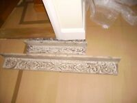 Shelves - set of two beautiful shelves - distressed finish shelves - perfect condition never used