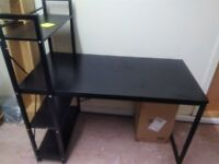 Black office desk