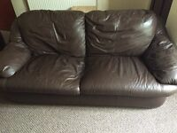 2 seater Leather Sofa - Good Condition