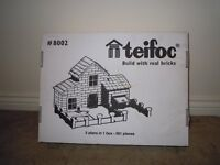 Teifoc 8002 ,House Building Set - With real Bricks & Cement (includes plans to build 5 houses)