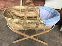 New Moses Basket with Stand