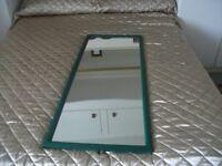 Mirror - Green Wooden Framed