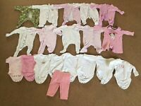 Newborn/Up to 1 Month (Approx 9lbs - 9lbs 10oz) Baby Clothes Bundle £10