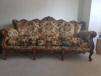 Antique Italian Three Piece Sofa Set