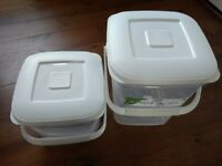Two Plastic Food Storage Containers 5ltr and 10lr