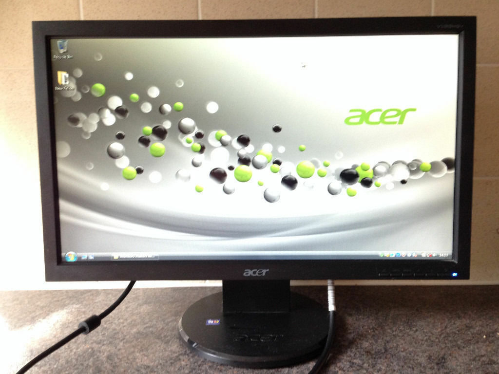 "Acer V193HQv 19 inch Widescreen LCD TFT 5ms Flat Screen LCD computer monitorin Kennington, LondonGumtree - Acer V193HQv 19 inch Widescreen LCD TFT 5ms Flat Screen LCD computer monitor The monitor is in perfect working order and in great condition. Fully adjustable; good image quality Quick SpecificationsSpecification Acer TFT LCD Monitor. 19"" Display...."