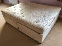 King Size Bed with Mattress - Sealy