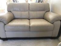 2 & 3 seater cream sofa for sale