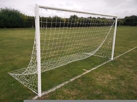 12' x 6' goal posts and brand new nets.