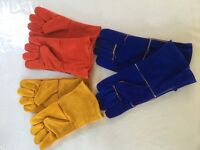 Real Leather/Suede 14'' Working Gloves