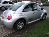 VW Beetle in silver,alloys,cd,electric windows, great looking car for its age, 10 mths mot