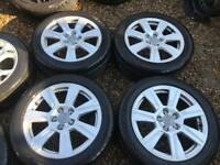 "17"" GENUINE AUDI A3 A4 A5 A6 A8 ALLOY WHEELS PASSAT SLINE"