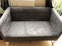 Basic 2 seater grey sofa/temp bed for quick sale