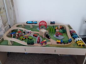 BigJigs Train Table/Train Tracks/Trains/Vehicles/Etc (DEREHAM COLLECTION)