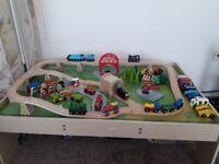 BigJigs Train Table/Train Tracks/Trains/Vehicles/Etc (DEREHAM COLLECTION)