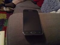 Samsung G360 mobile with accesories gold mirror cover charger and hands free