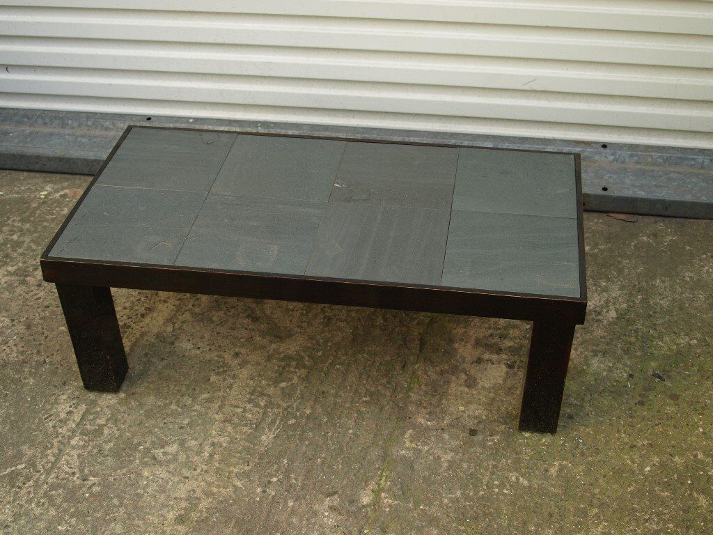 Coffee Table With Slate Tile Top Free Delivery In Taunton