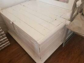 Urgent sale BIG Blanket box solid wood painted white £35